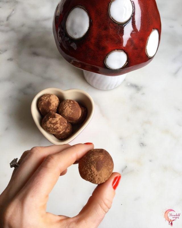 mushroom chocolate truffles