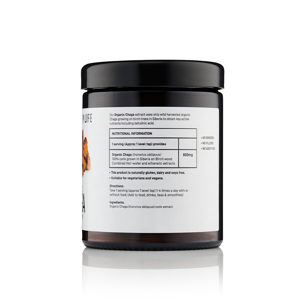 Chaga powder side 2