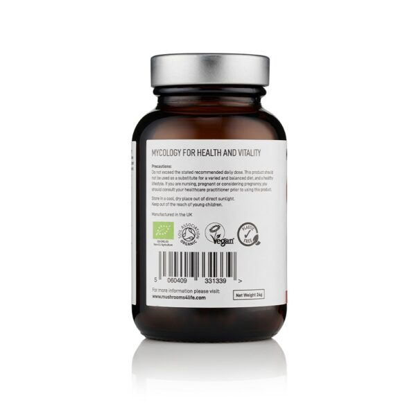 Reishi Capsules with Lion's Mane Side 1